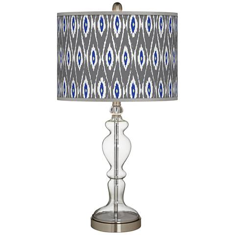 American Ikat Giclee Apothecary Clear Glass Table Lamp