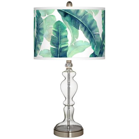 Guinea Giclee Apothecary Clear Glass Table Lamp