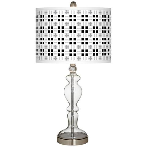 Quadrant Giclee Apothecary Clear Glass Table Lamp