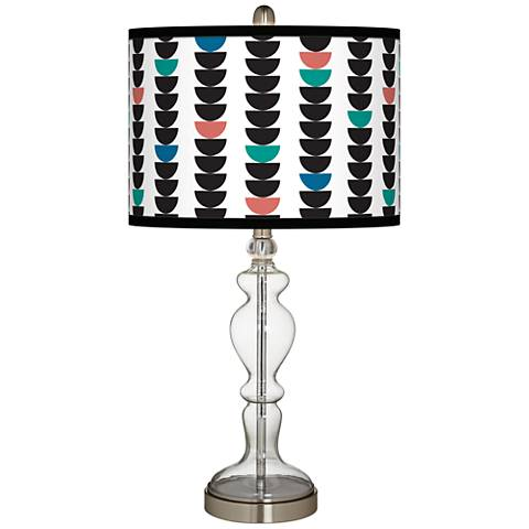 Semi-Dots Giclee Apothecary Clear Glass Table Lamp