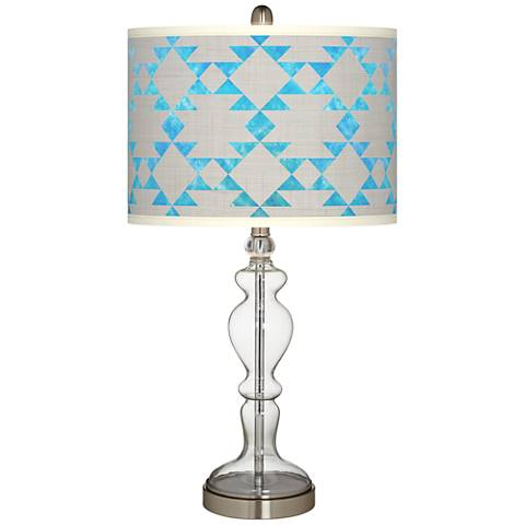 Desert Aquatic Giclee Apothecary Clear Glass Table Lamp