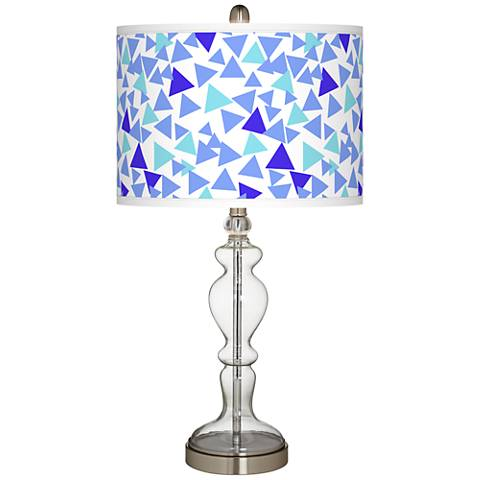 Geo Confetti Giclee Apothecary Clear Glass Table Lamp