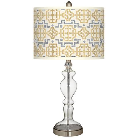 Willow Chinoiserie Giclee Apothecary Clear Glass Table Lamp