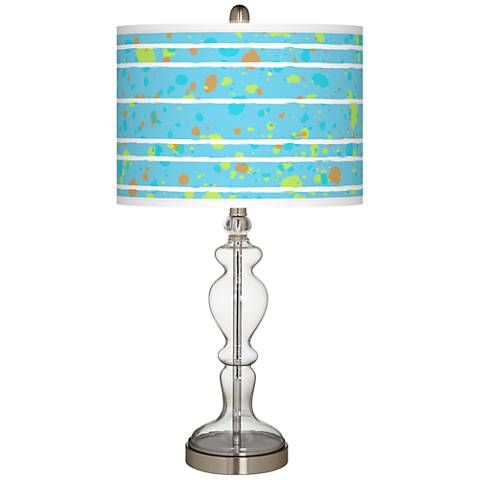 Paint Drips Giclee Apothecary Clear Glass Table Lamp