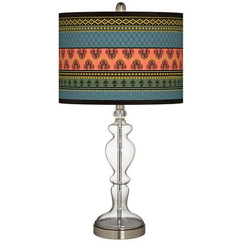 Royal Tapestry Giclee Apothecary Clear Glass Table Lamp