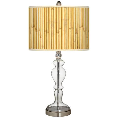 Bamboo Mat Giclee Apothecary Clear Glass Table Lamp