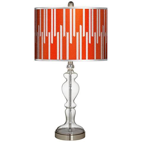 Segments Silver Metallic II Apothecary Clear Glass Table Lamp