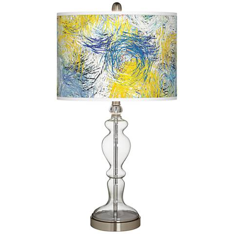 Starry Dawn Giclee Apothecary Clear Glass Table Lamp