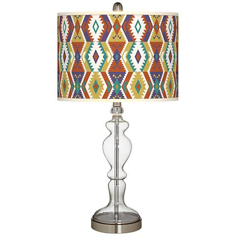 Southwest Bohemian Giclee Apothecary Clear Glass Table Lamp