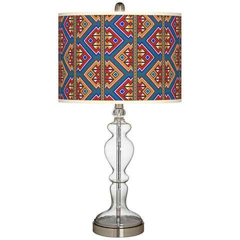 Rich Bohemian Giclee Apothecary Clear Glass Table Lamp