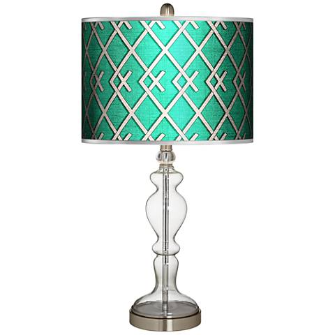 Crossings Silver Metallic Giclee Apothecary Glass Table Lamp
