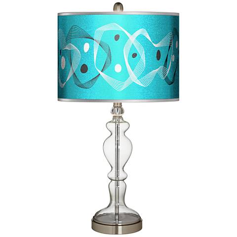 Spirocraft Silver Metallic Giclee Apothecary Glass Table Lamp