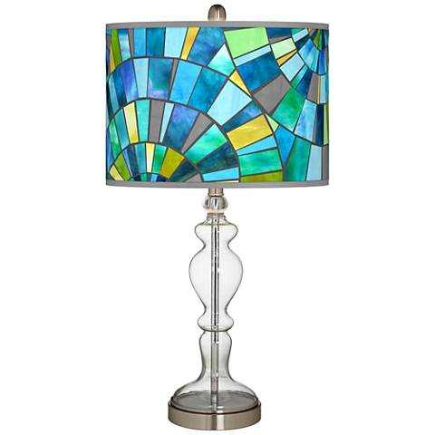 Lagos Mosaic Giclee Apothecary Clear Glass Table Lamp