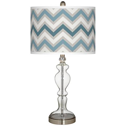 Wave Zig Zag Giclee Apothecary Clear Glass Table Lamp