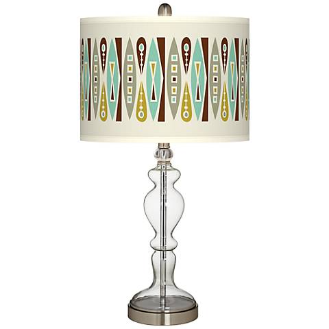 Vernaculis II Giclee Apothecary Clear Glass Table Lamp