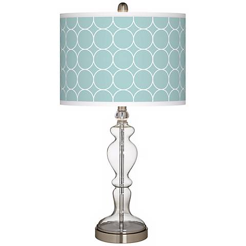 Aqua Interlace Giclee Apothecary Clear Glass Table Lamp