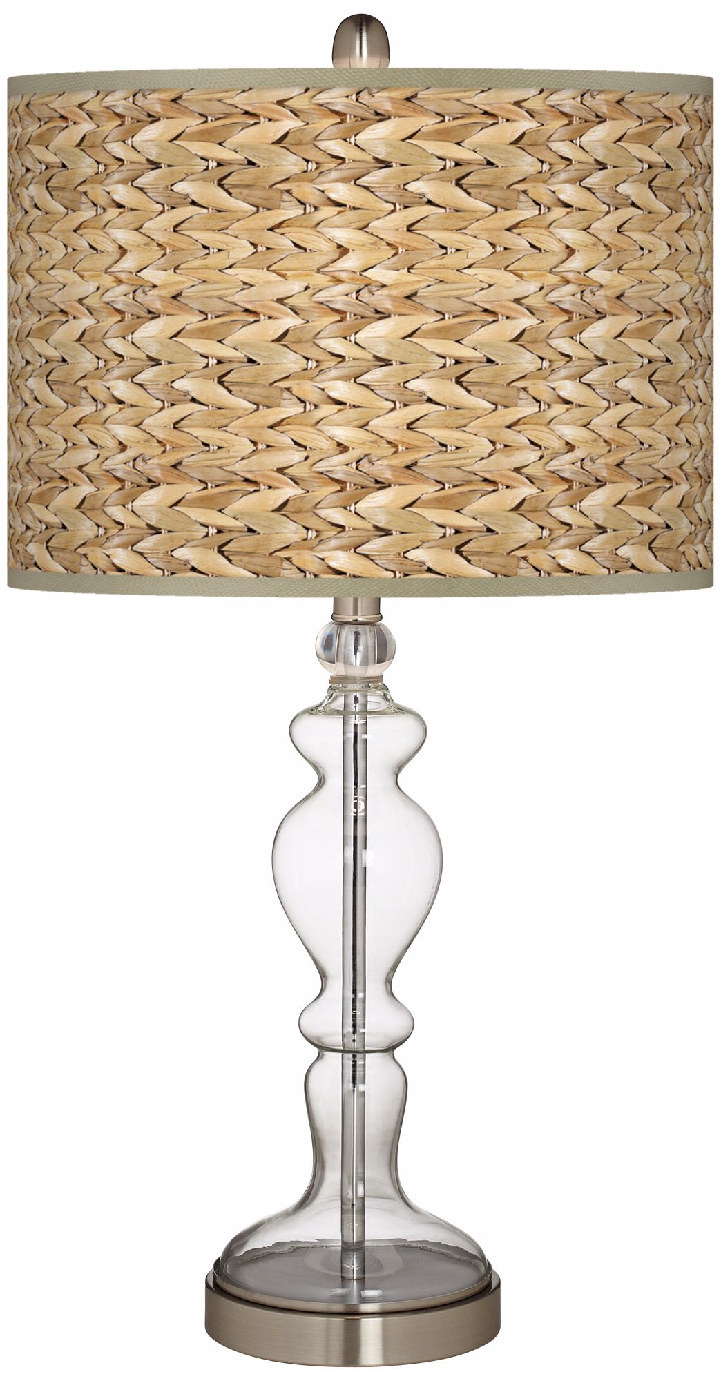 Seagrass Giclee Apothecary Clear Glass Table Lamp