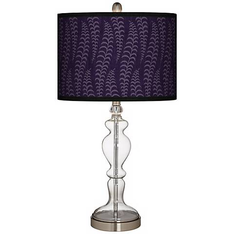 Stacy Garcia Fancy Fern Rich Plum Apothecary Table Lamp