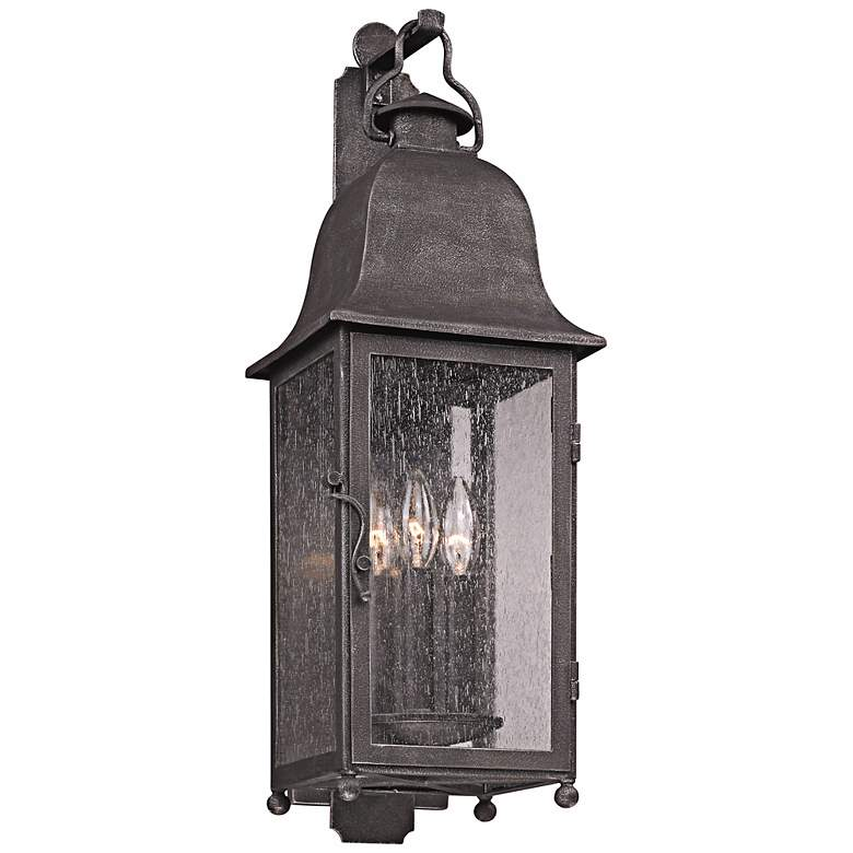 """Larchmont 25"""" High Outdoor Aged Pewter Wall Light"""