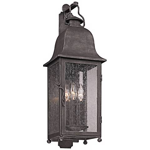 "Larchmont 25"" High Outdoor Aged Pewter Wall Light"
