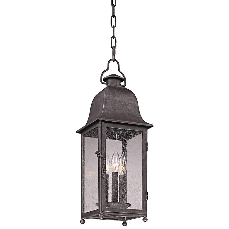 """Larchmont 23 1/2"""" High Aged Pewter Outdoor Hanging"""