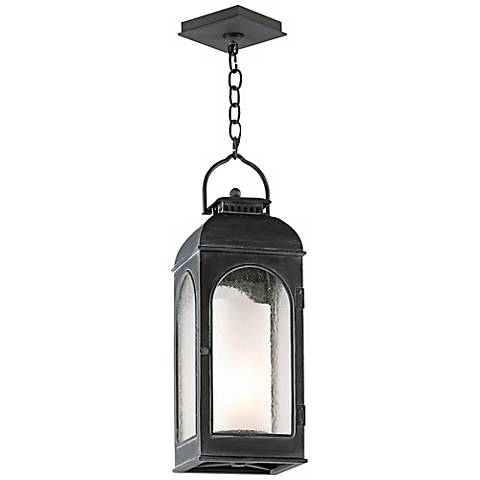 "Derby 22 1/4"" High Antique Iron Outdoor Hanging Light"
