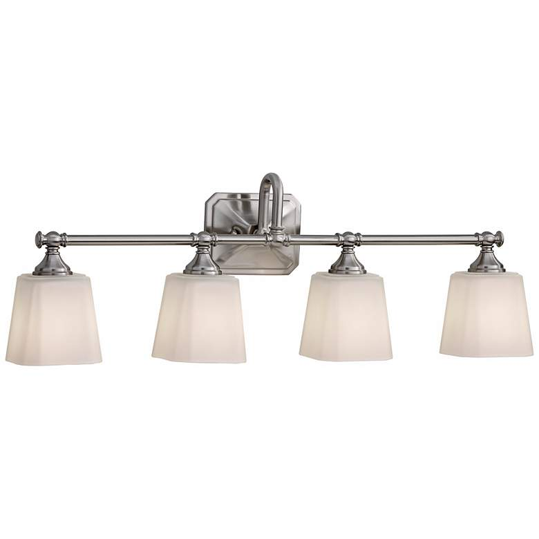 """Feiss Concord 30"""" Wide Brushed Steel Bath Light"""