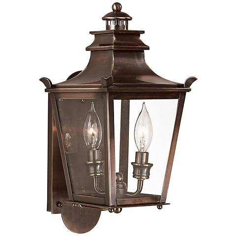 "Dorchester 16"" High English Bronze Outdoor Wall Light"