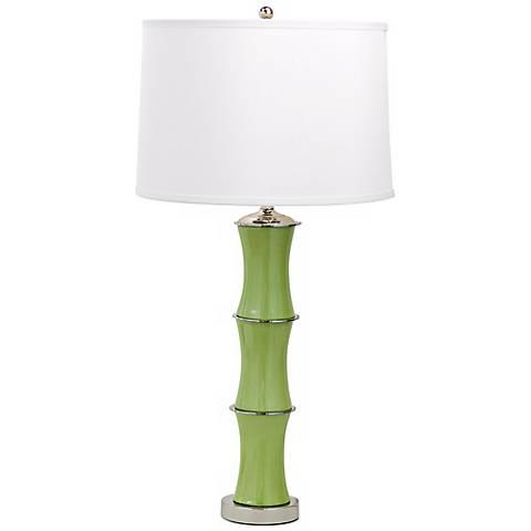 Rivoli Apple Green Porcelain Table Lamp