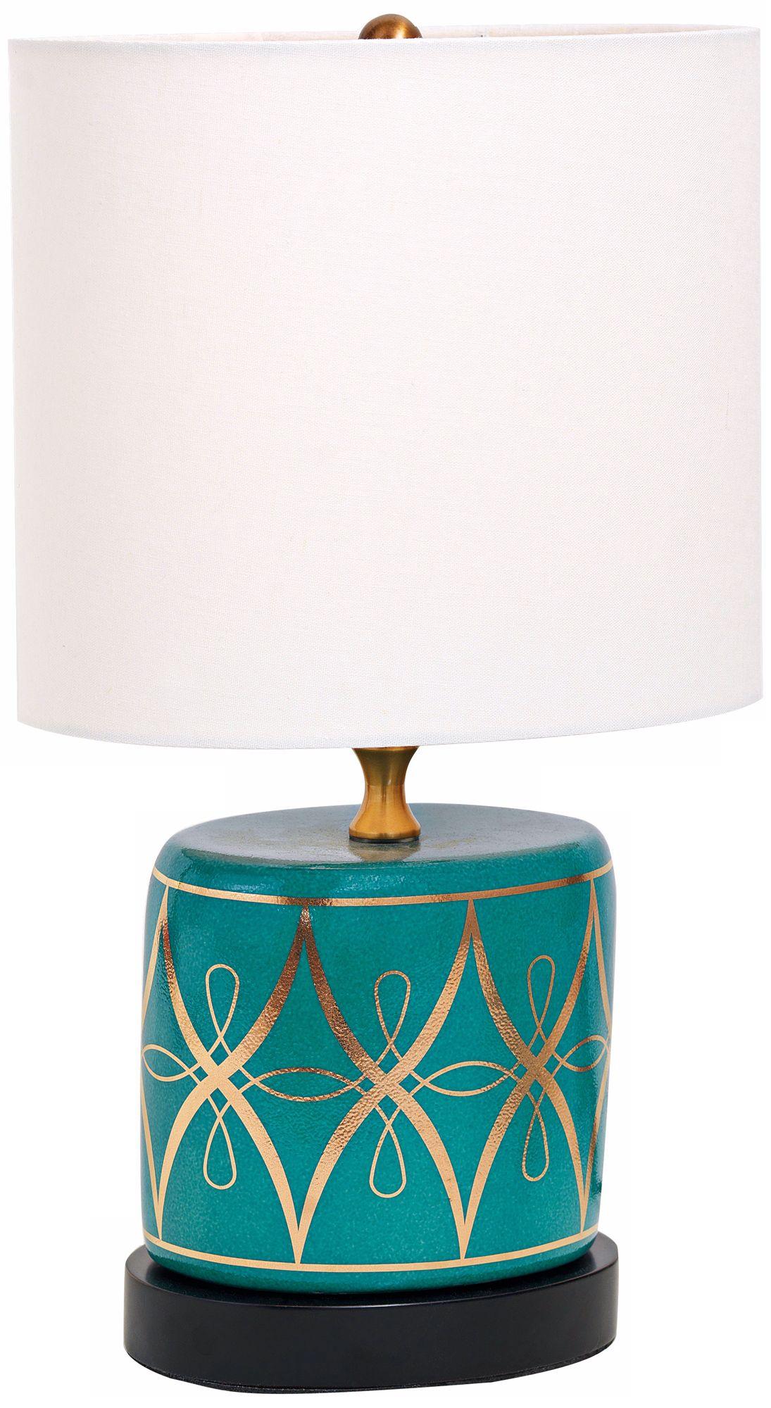 Zelda Peacock Mini Porcelain Table Lamp