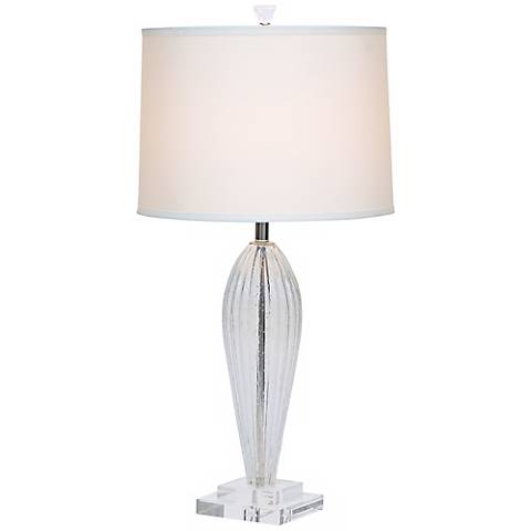 Romano Off-White Shade Hand-Blown Glass Table Lamp