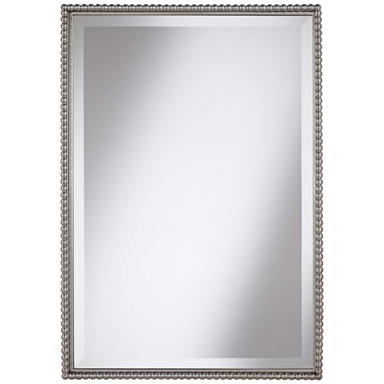 "Uttermost Sherise Beaded 21"" x 31"" Rectangular Wall Mirror"