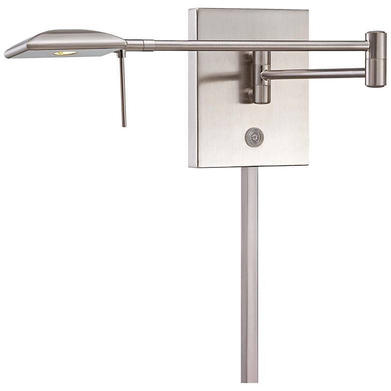 George Kovacs Square Head LED Nickel Swing Arm Wall Lamp