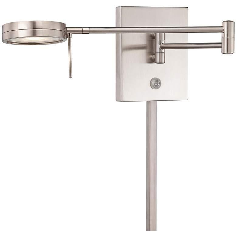 George Kovacs Round Head LED Nickel Swing Arm Wall Lamp