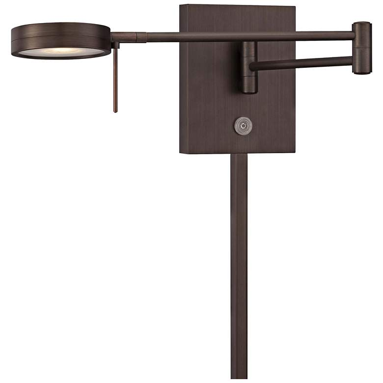 George Kovacs Round Head LED Bronze Swing Arm Wall Lamp