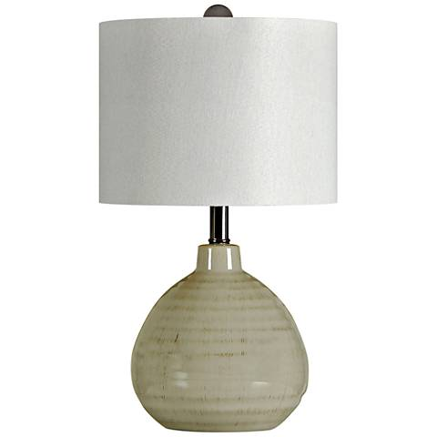 Cool Grey Ceramic Jar Table Lamp