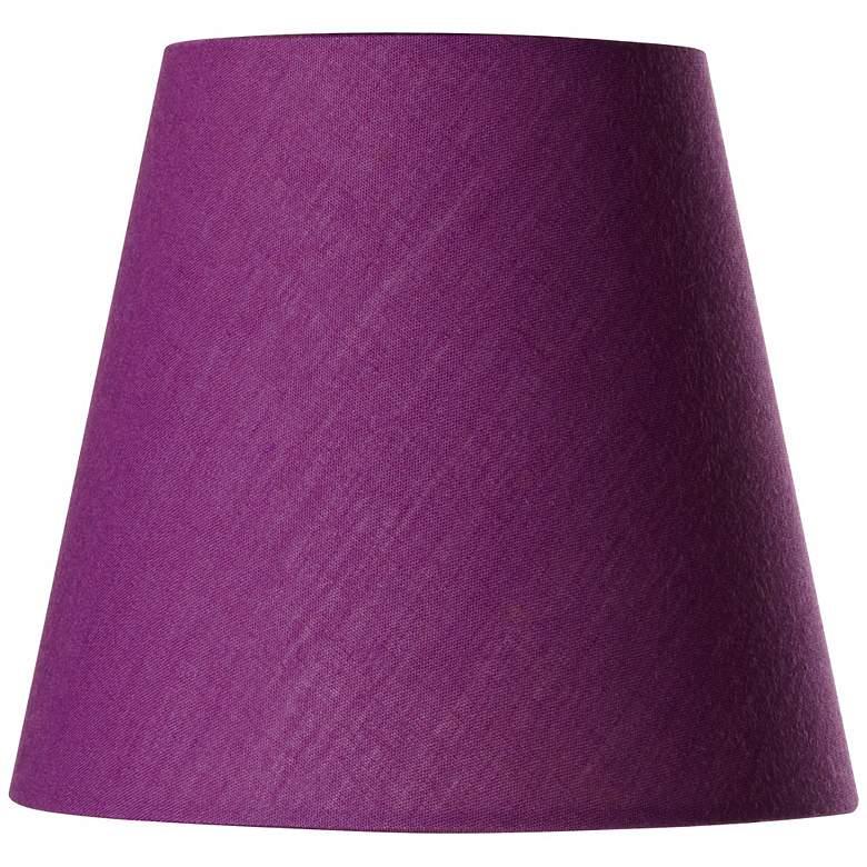 Cotton Blend Purple Lamp Shade 3.5x5.5x5 (Clip-On)