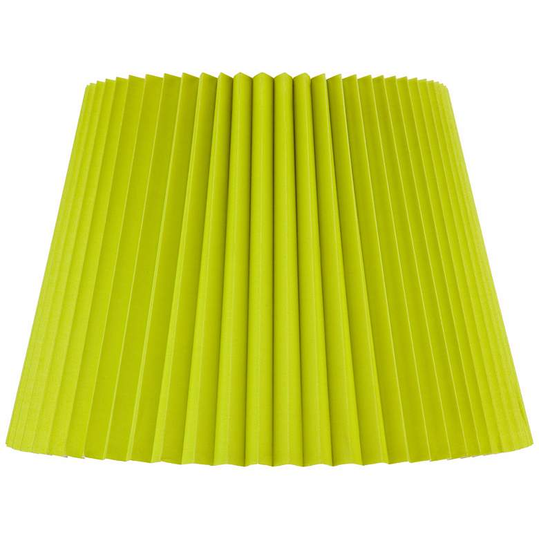 Lime Green Knife Pleat Empire Shade 11x16x11 (Spider)