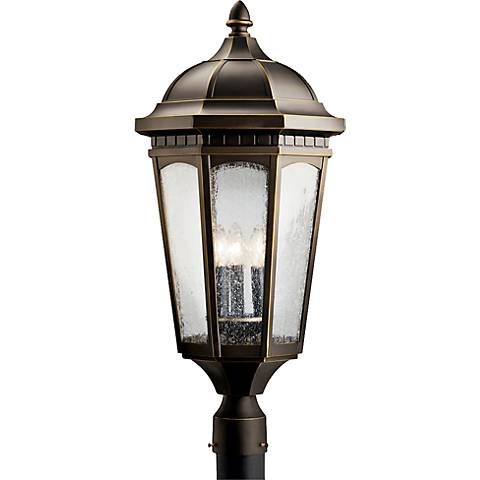 "Kichler Courtyard 27"" High Bronze Outdoor Post Light"