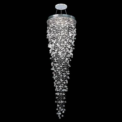"James R. Moder Impact Crystal Rain 32"" Wide Chandelier"