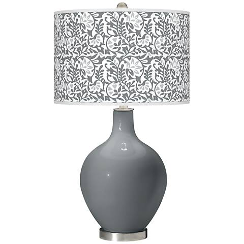 Software Gray Gardenia Ovo Table Lamp