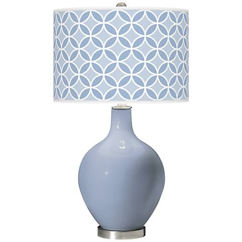 Blue Sky Circle Rings Ovo Table Lamp