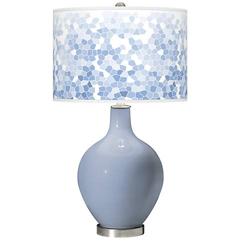 Blue Sky Mosaic Giclee Ovo Table Lamp