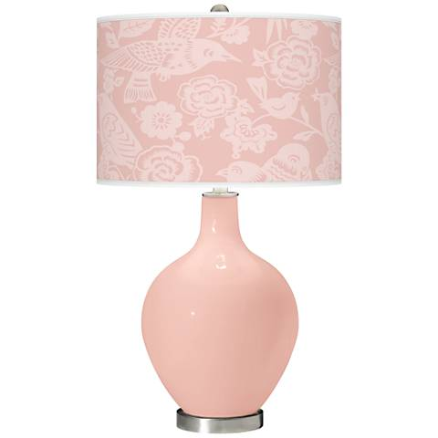 Rose Pink Aviary Ovo Table Lamp
