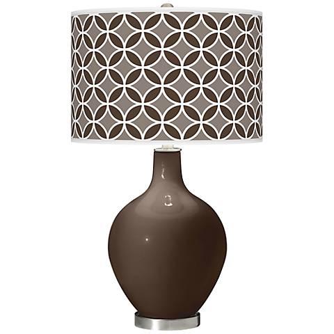 Carafe Circle Rings Ovo Table Lamp