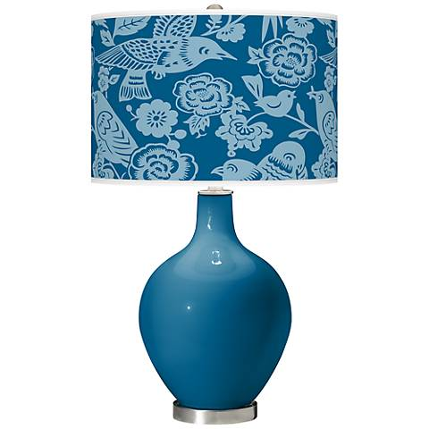 Mykonos Blue Aviary Ovo Table Lamp
