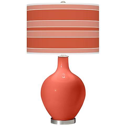 Koi Bold Stripe Ovo Table Lamp
