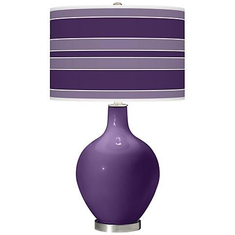 Acai Bold Stripe Ovo Table Lamp
