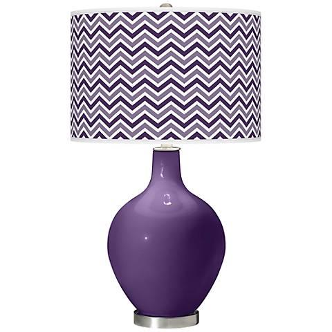 Acai Narrow Zig Zag Ovo Table Lamp