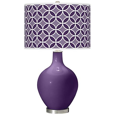 Acai Circle Rings Ovo Table Lamp